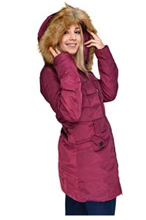 Beinia Valuker Women's Down Coat with Fur Hood