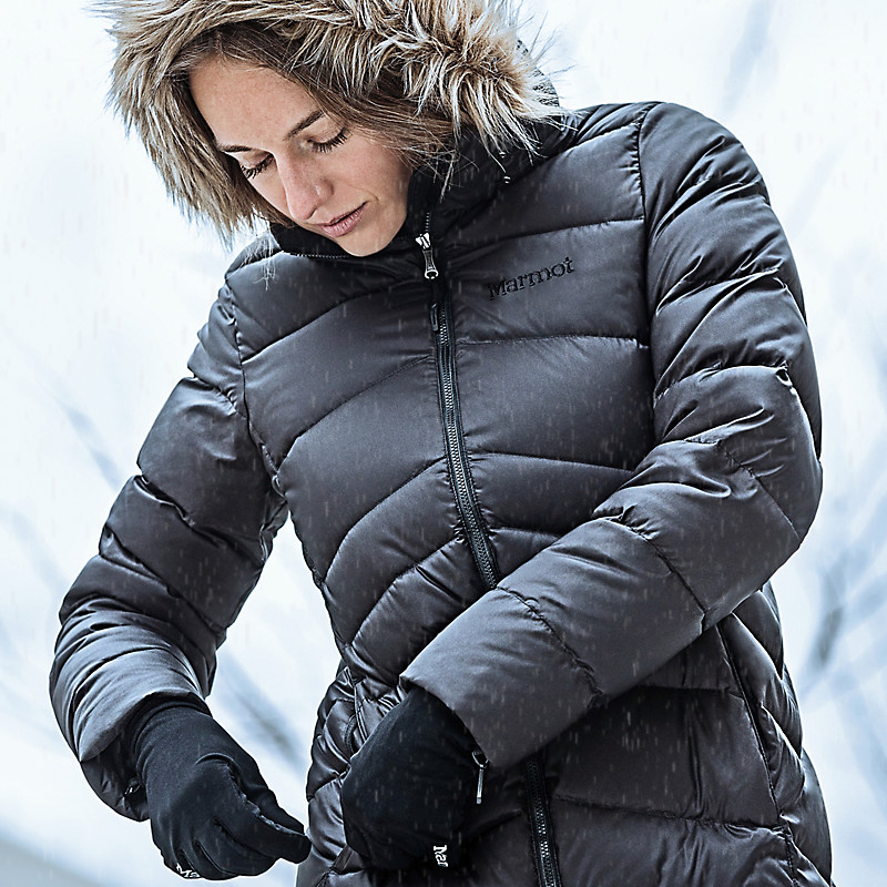 Marmot Women's Montreal Knee-Length Down Puffer Coat