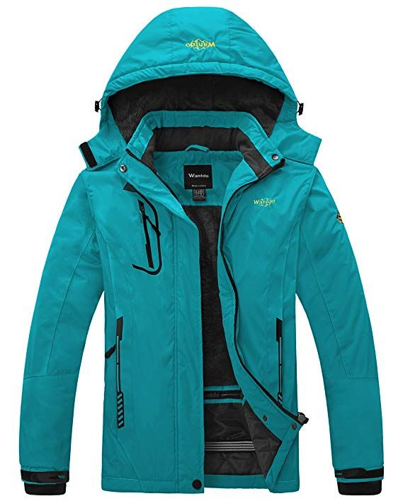 Wantdo Women's Mountain Waterproof Ski Jacket Windproof Rain Jacket